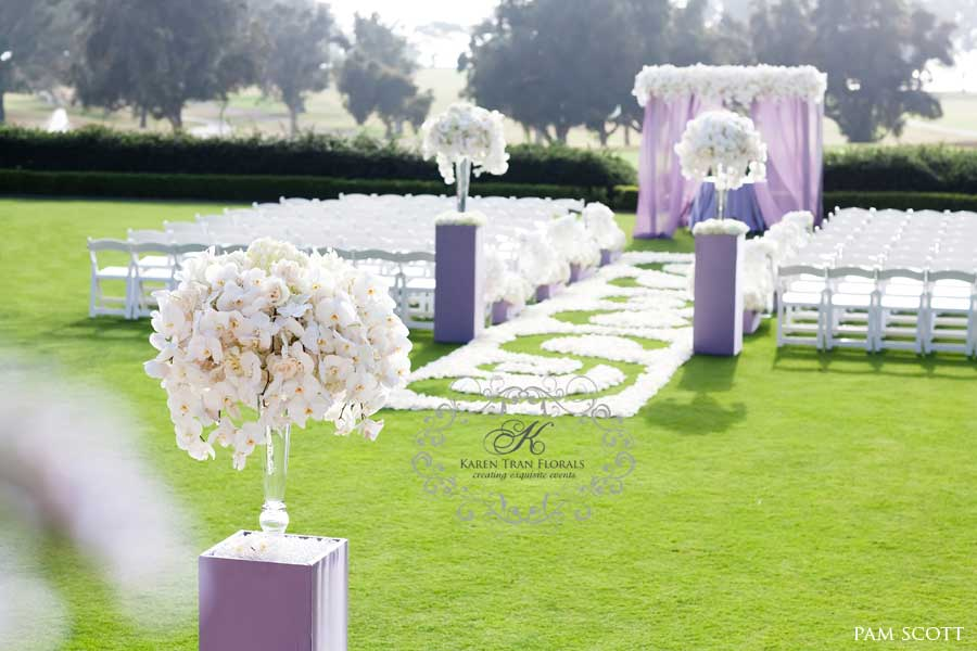 White And Lavender Wedding