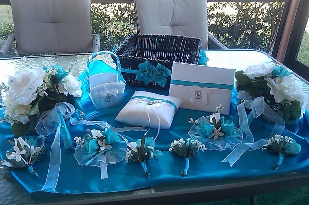 Turquoise Wedding Decor On Emcraft Org Turil S Blog Black With White Dresses For The Bridesmaids