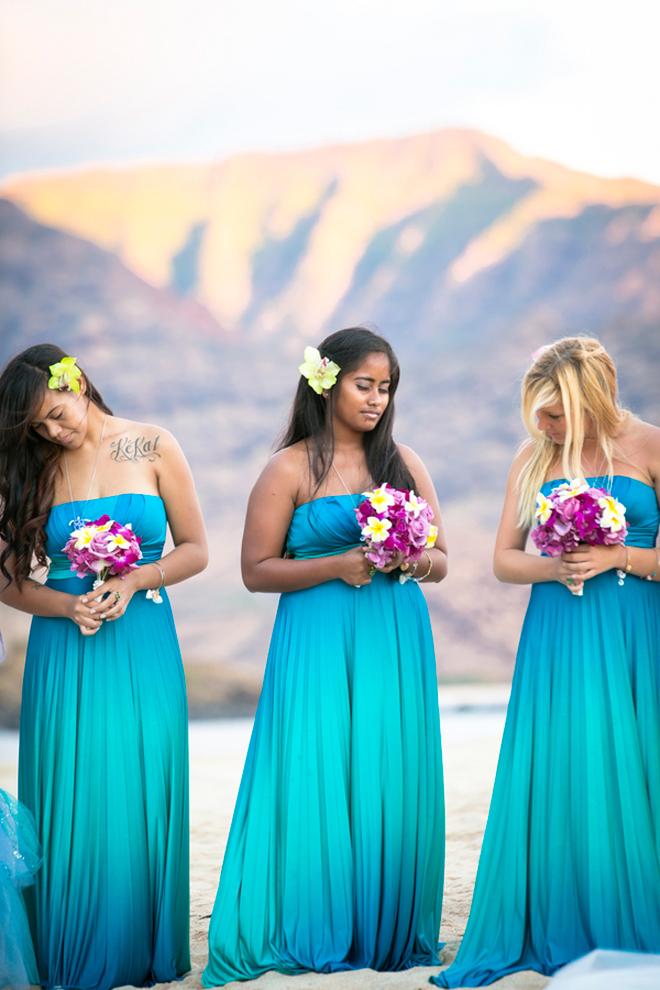 Turquoise Beach Wedding Dress