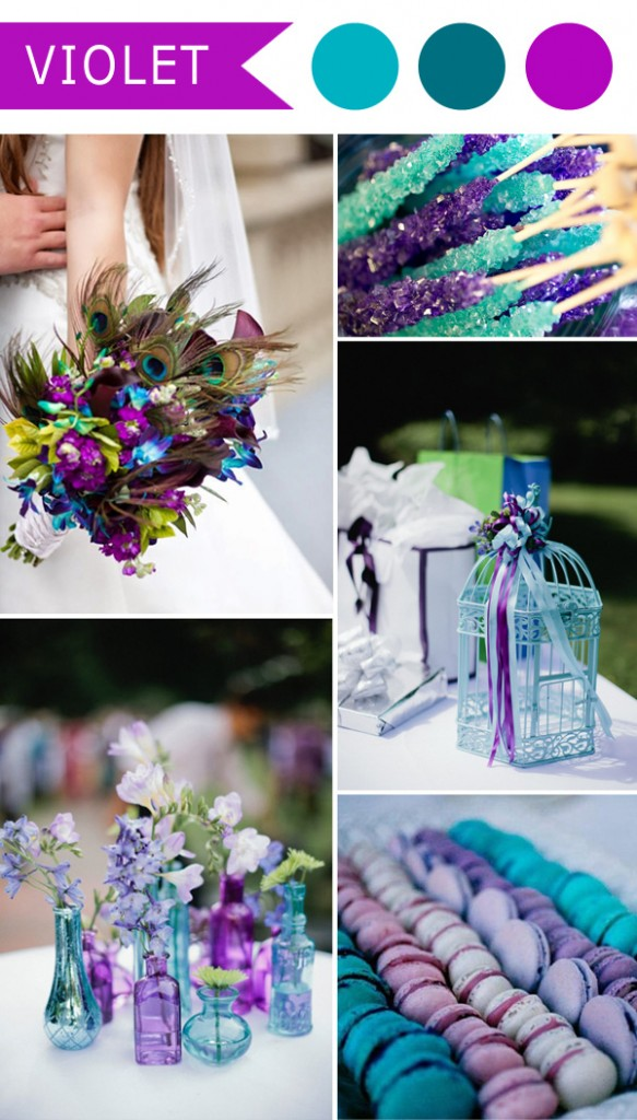 Violet And Teal Blue Pea Themed Wedding Color Ideas