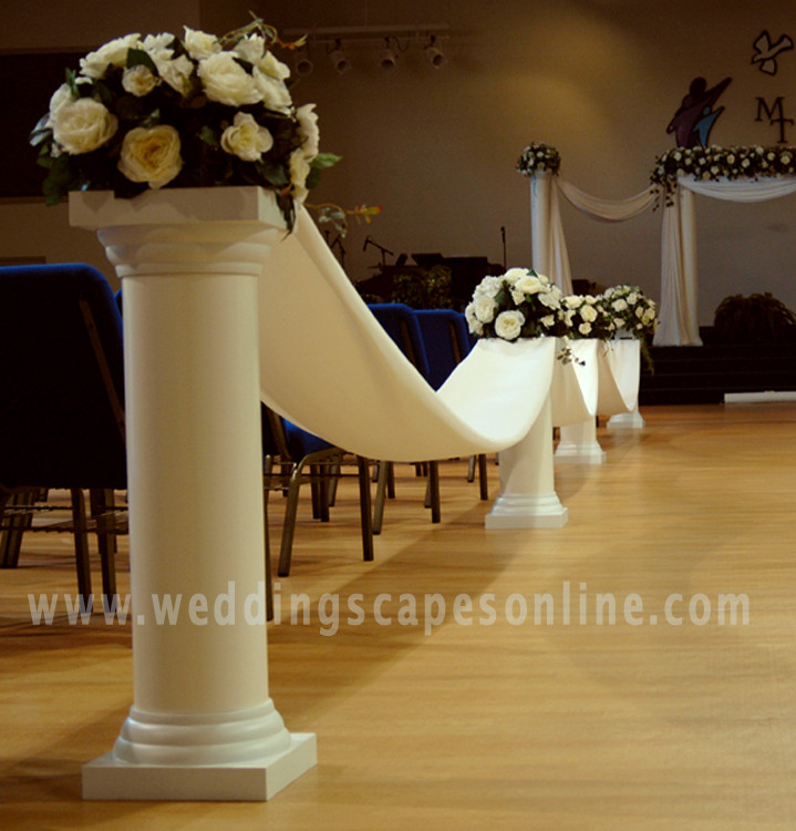 Decorating With Columns Top Wedding Decorations With Columns Luxury