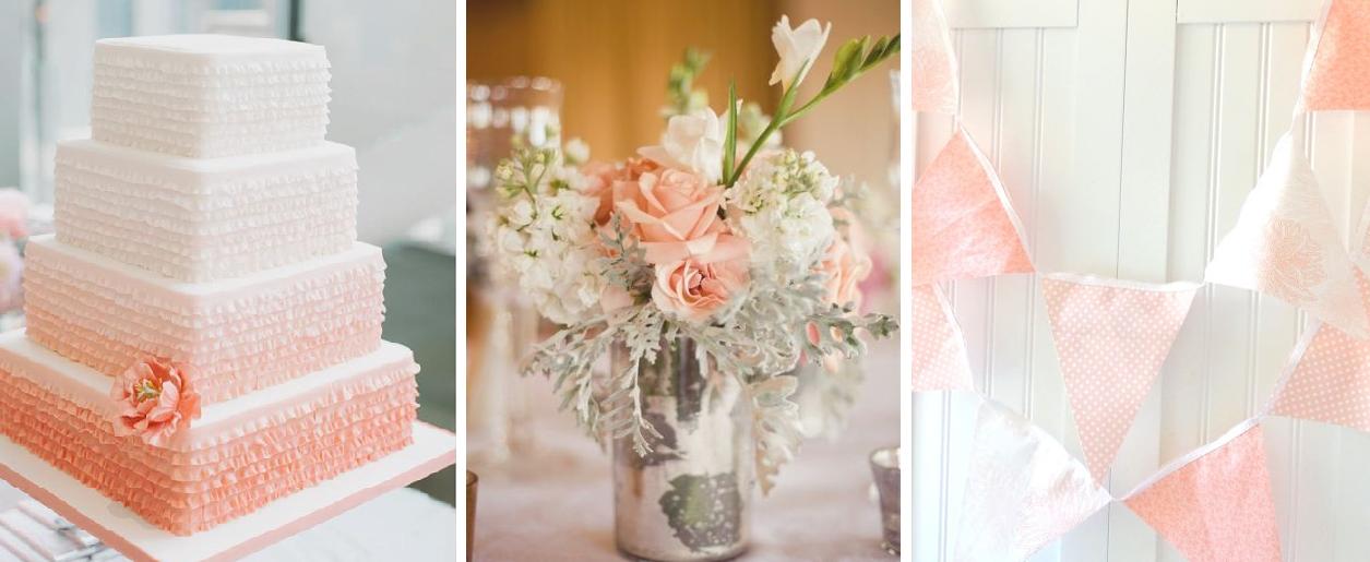 Peach Color Wedding Decorations Therapyboxfo