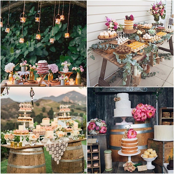 Ideas For Dessert Table At Weddings