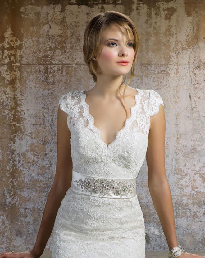 lace cap sleeve wedding dress - Wedding Decor Ideas