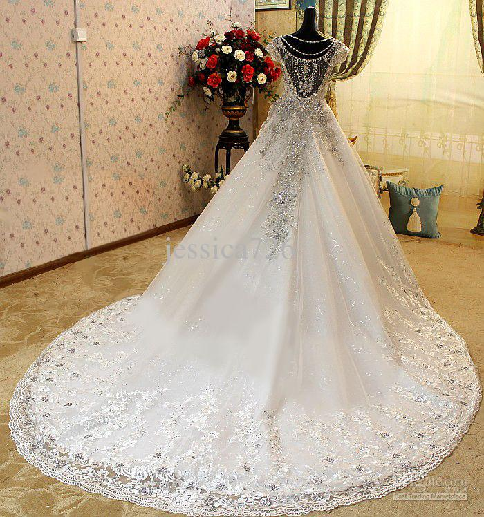 Wedding Dresses With Cathedral Trains