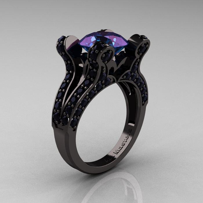 wedding rings ideas diamond centerpiece black unique wedding - Purple Wedding Ring