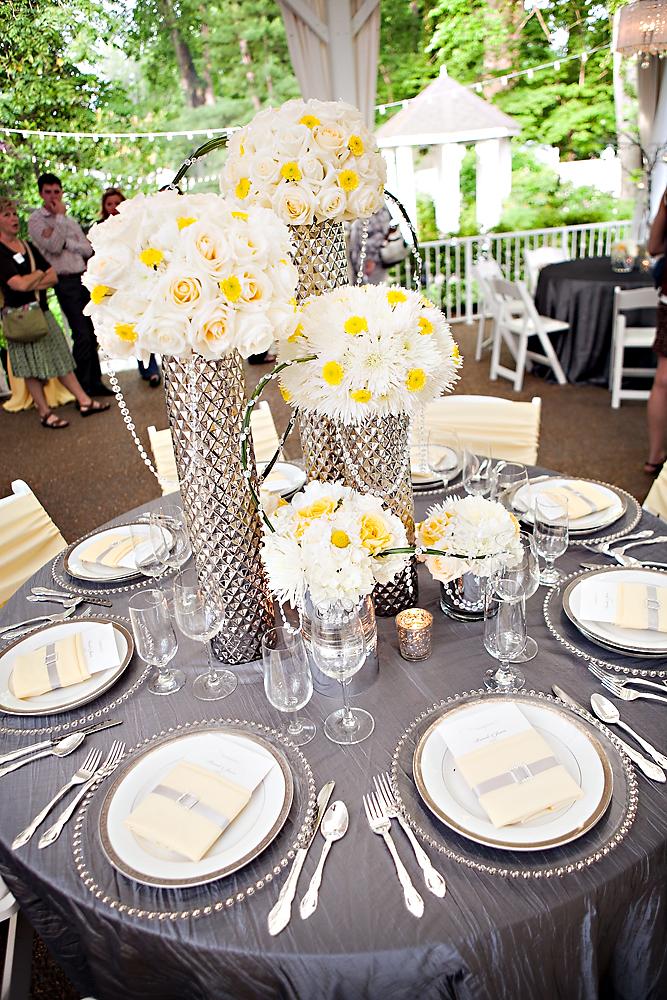 Silver And Yellow Wedding Decor Invitationjpg