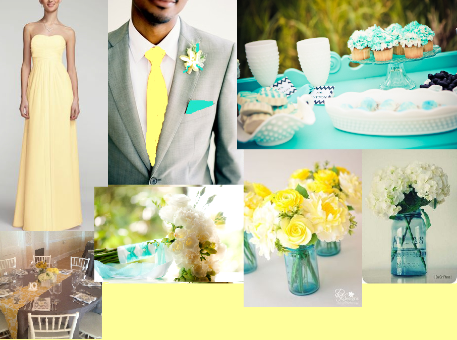 Wedding Theme Tiffany Blue And Yellow