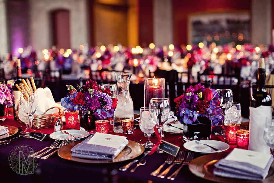 Best Red And Purple Wedding Theme