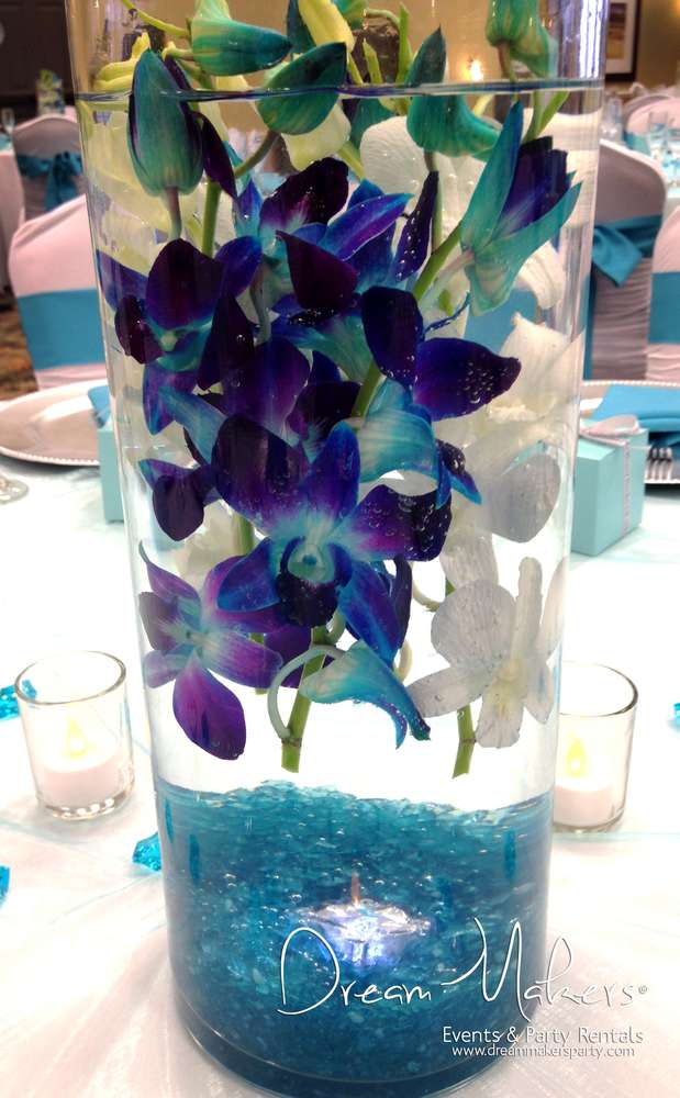 Turquoise Purple And Silver Wedding