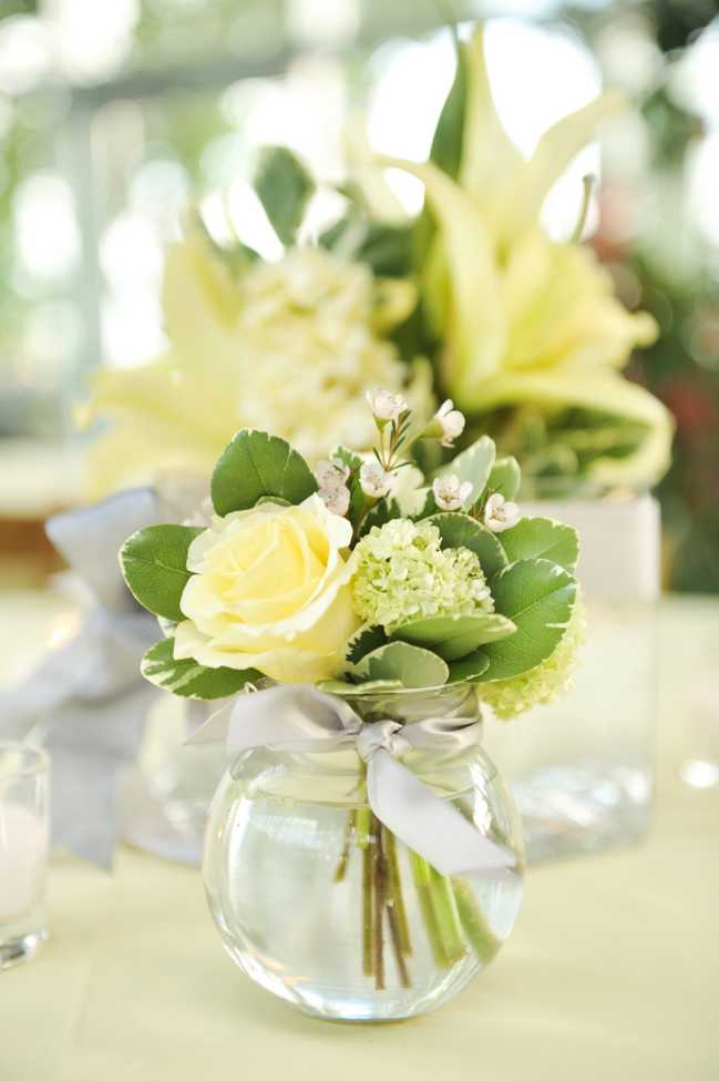 Yellow wedding centerpieces yellow and green wedding centerpiecesthrow some long pretty junglespirit Images