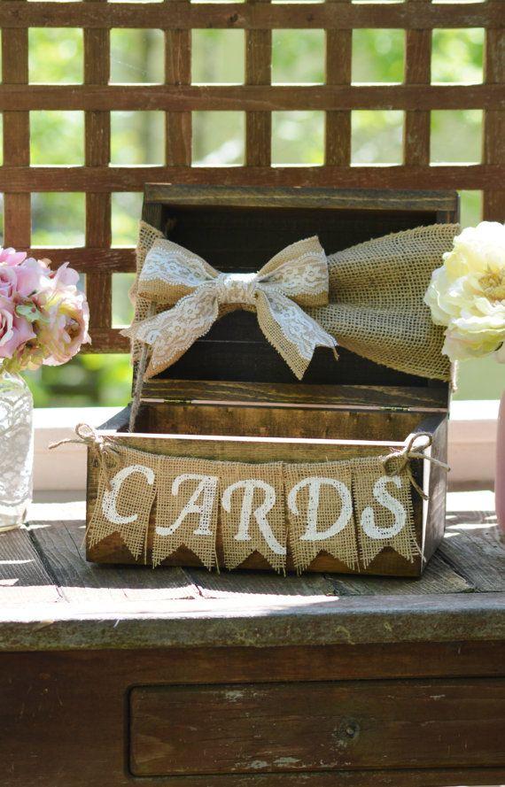 Rustic Wedding Card Holder