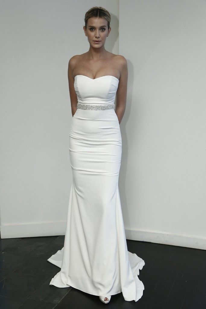 Nicole Miller Silk Faille Wedding Dress | Wedding