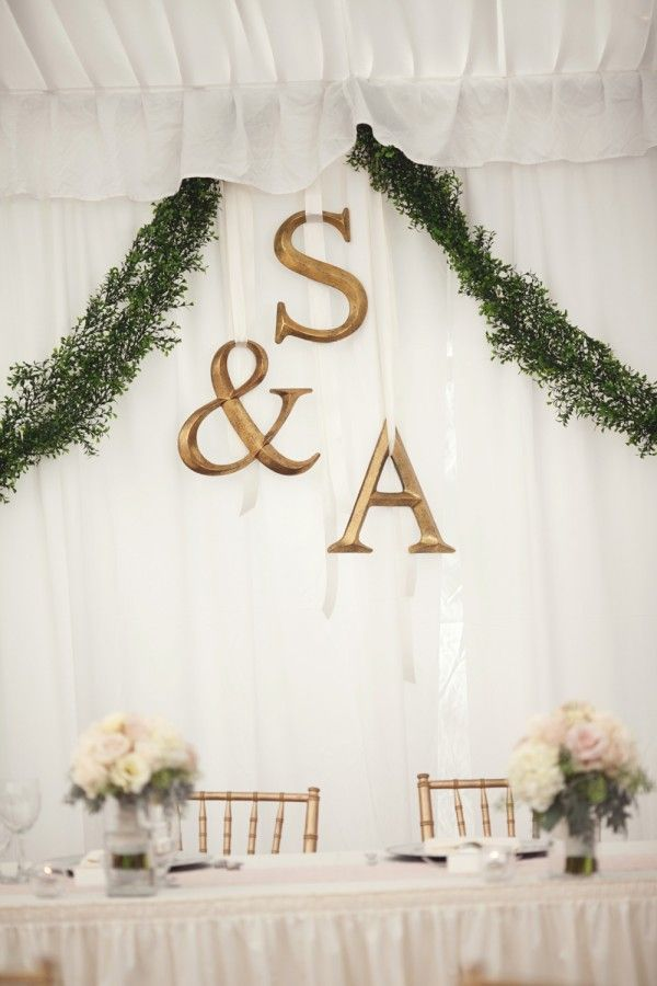 Wedding Head Table Backdrop Ideas