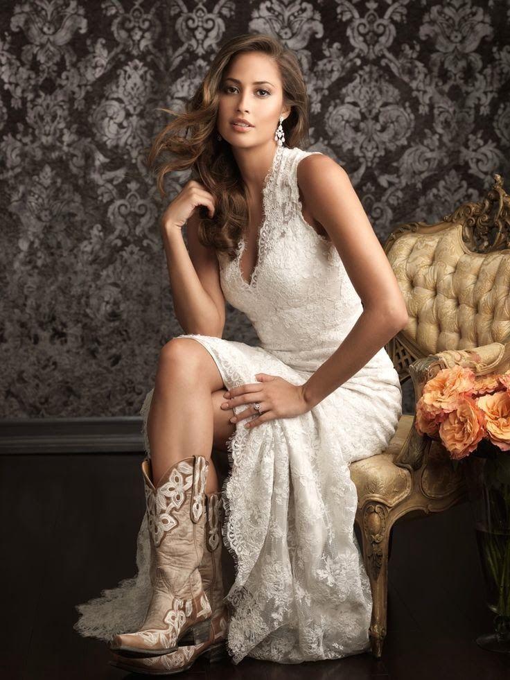 Wedding Cowboy Boots Bride