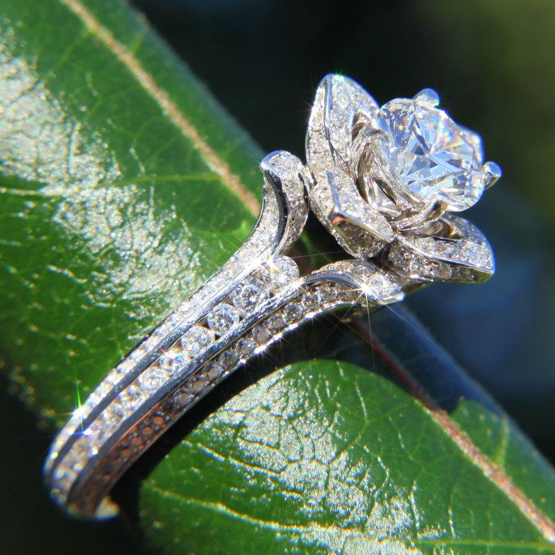 Rose Diamond Wedding Ring