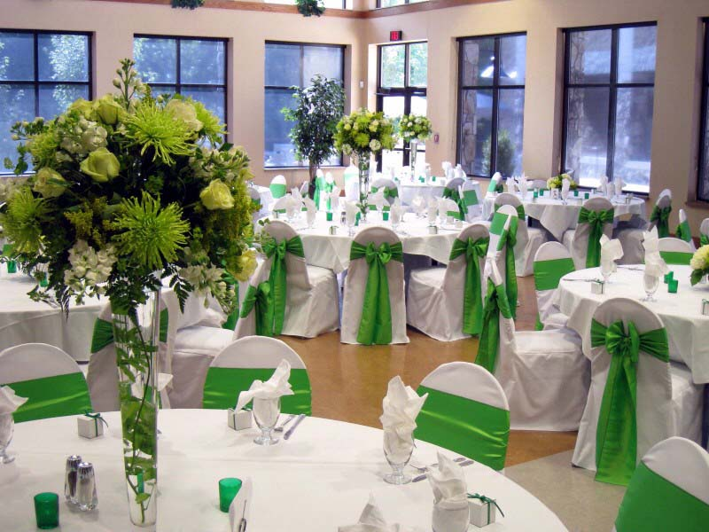 Green wedding decorations junglespirit Images