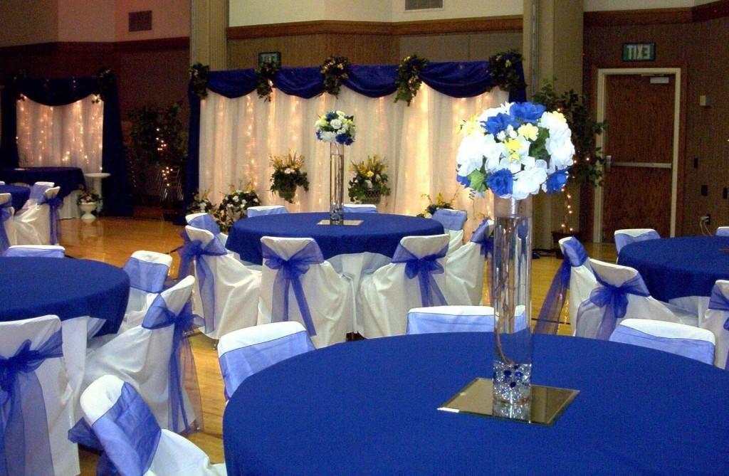 Modern Blue Wedding Decorations With Royal Blue Wedding