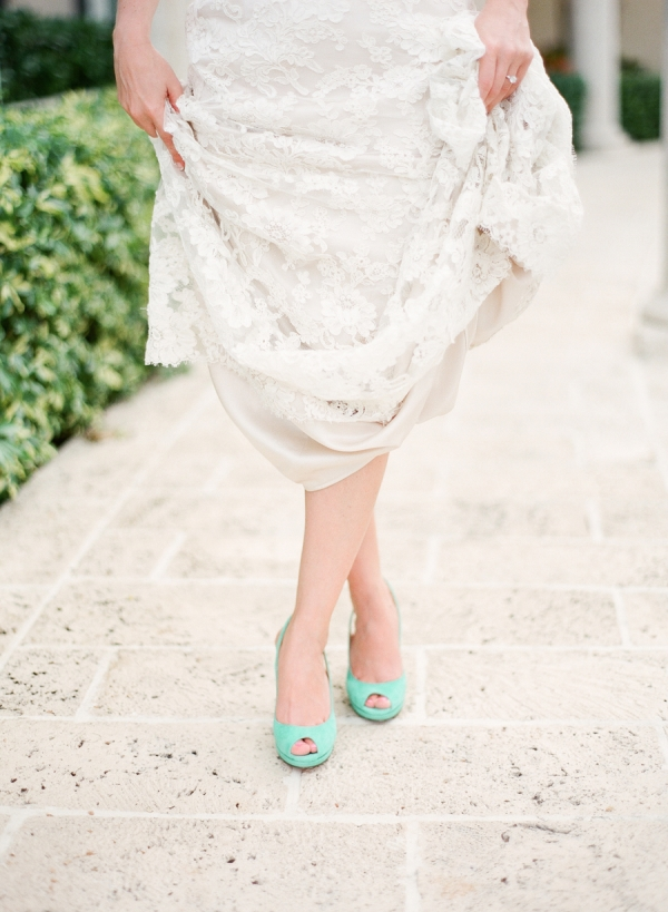 Mint Shoes For Wedding