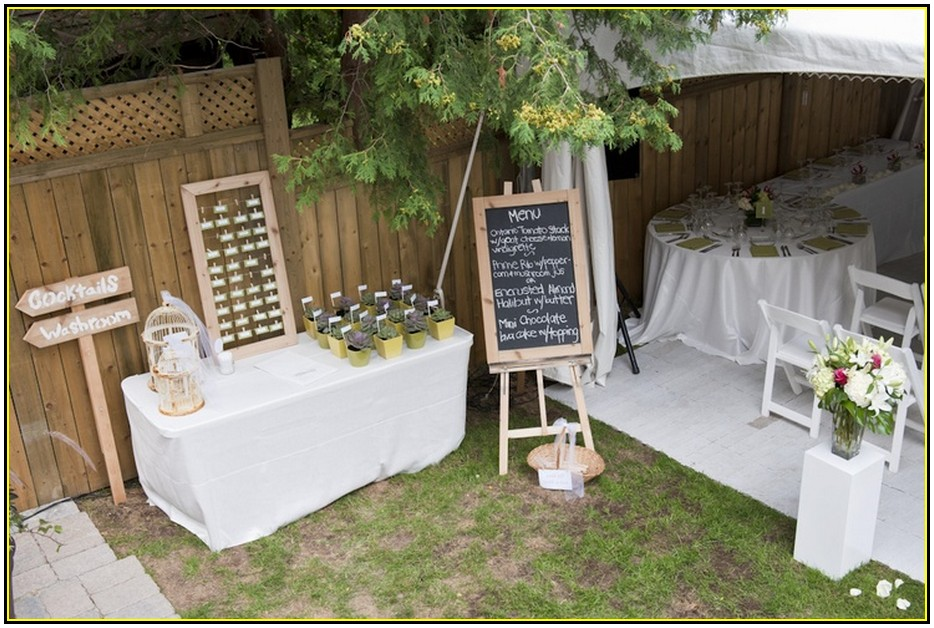 Small Wedding Dinner Party Ideas Part - 26: Small Wedding Reception Ideas At Home Backyard Wedding Memorable