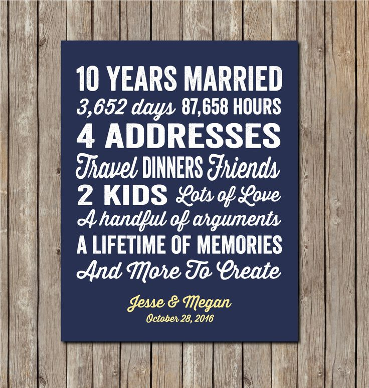 The top 20 Ideas About 10 Year Anniversary Gift Ideas for ...
