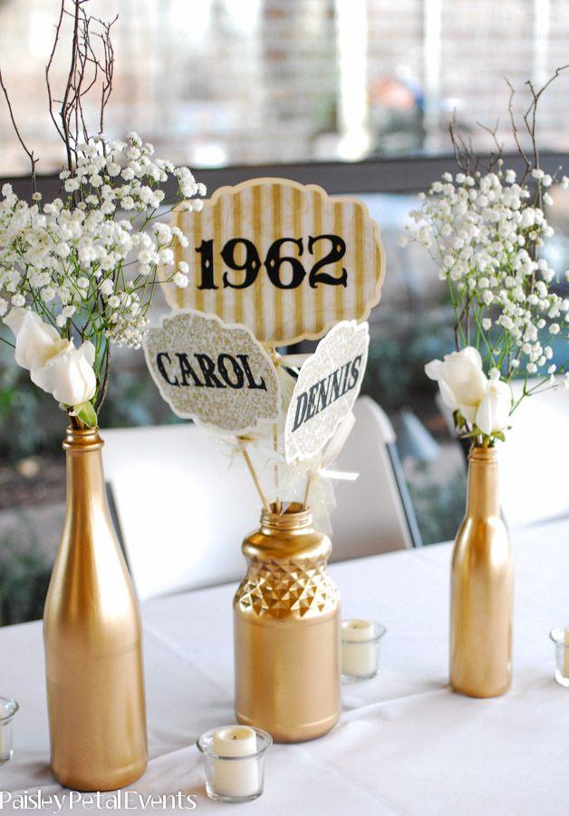Wedding Anniversary Centerpiece Ideas