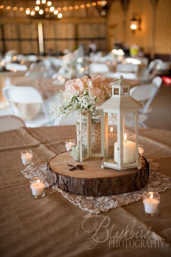 Wedding Log Centerpieces