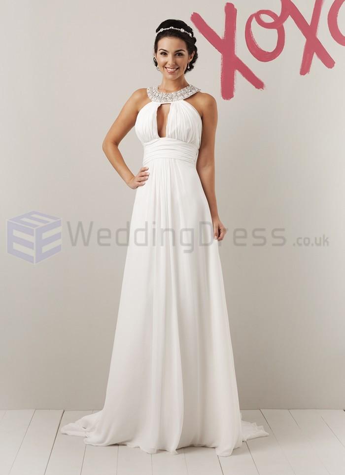 Chiffon Grecian Wedding Dress