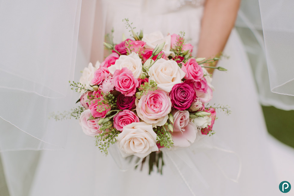 Amazing Pink And White Wedding Flowers Photos