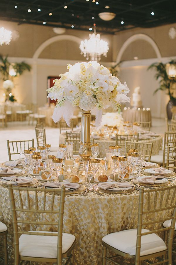... Gold And White Wedding Centerpieces ... & Gold And White Wedding Centerpieces Choice Image - Wedding ...