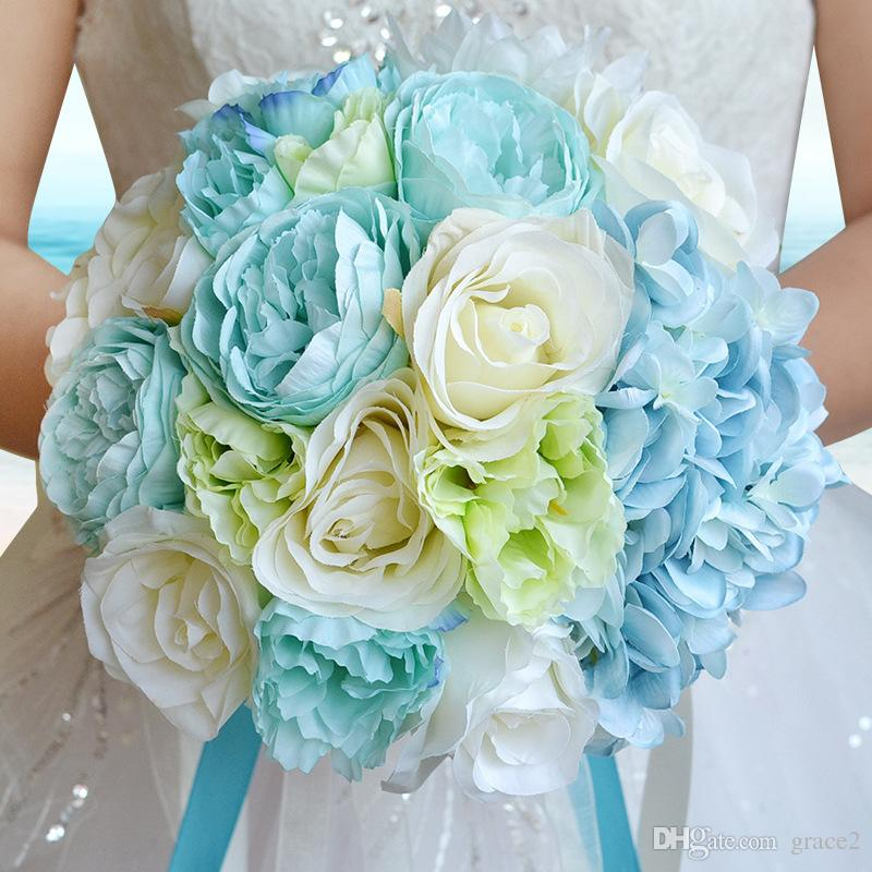 Artificial Wedding Bouquets 2017 Summer Style Silk Flowers Bridal