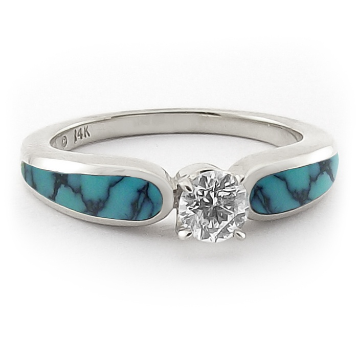 Turquoise Wedding Ring Sets