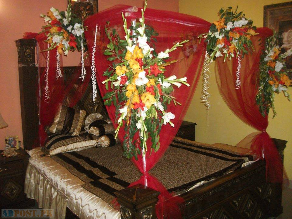 Fresh flowers decoration wedding bedroom decoration with flowers and candles 2014 sisterspd