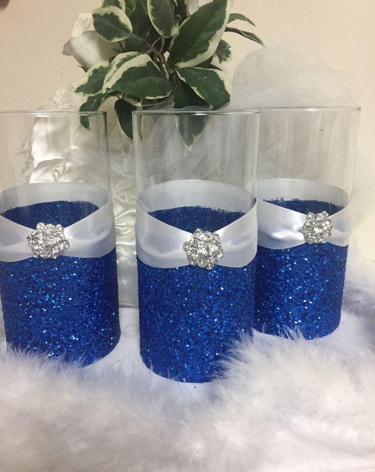 Navy Blue Wedding Centerpieces