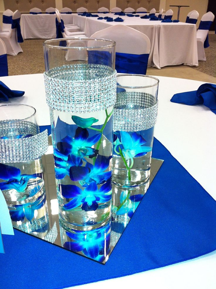 Blue centerpieces for weddings image collections wedding blue centerpieces for weddings gallery wedding decoration ideas junglespirit Choice Image