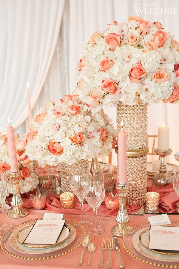 Nice coral wedding centerpiece ideas component wedding dress coral wedding centerpieces junglespirit Images