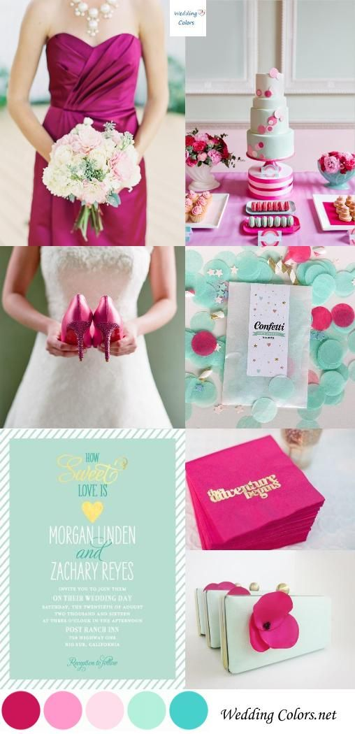 Pink And Fuschia Wedding Colors