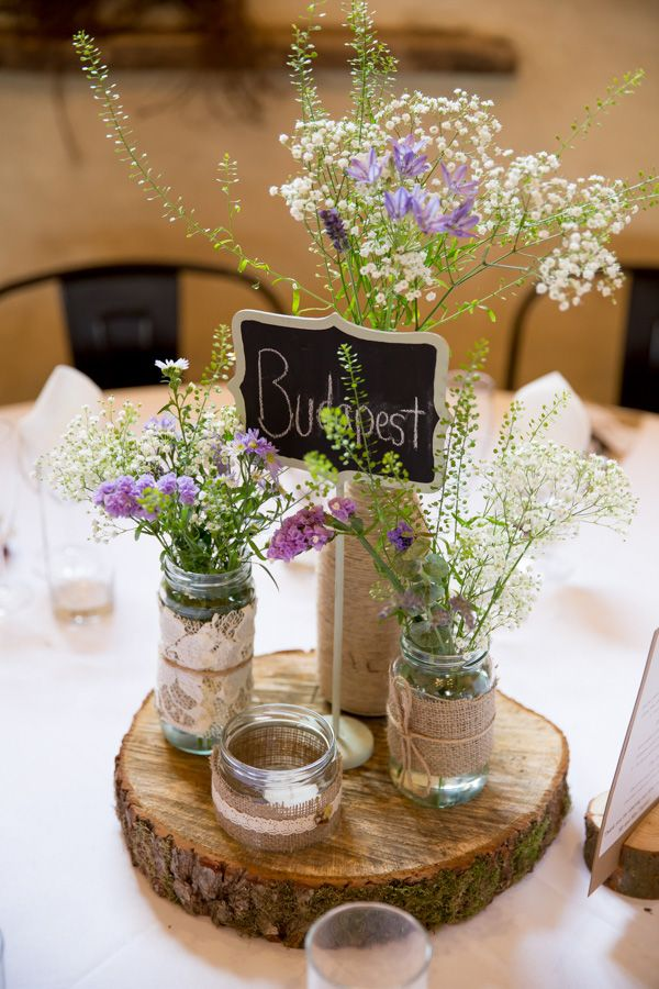 Rustic Wedding Table Centerpiece Ideas