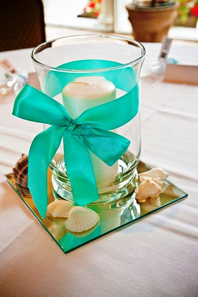 Teal Wedding Centerpiece Ideas