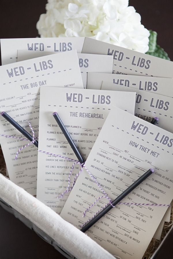 Ideas For Wedding Reception Activities
