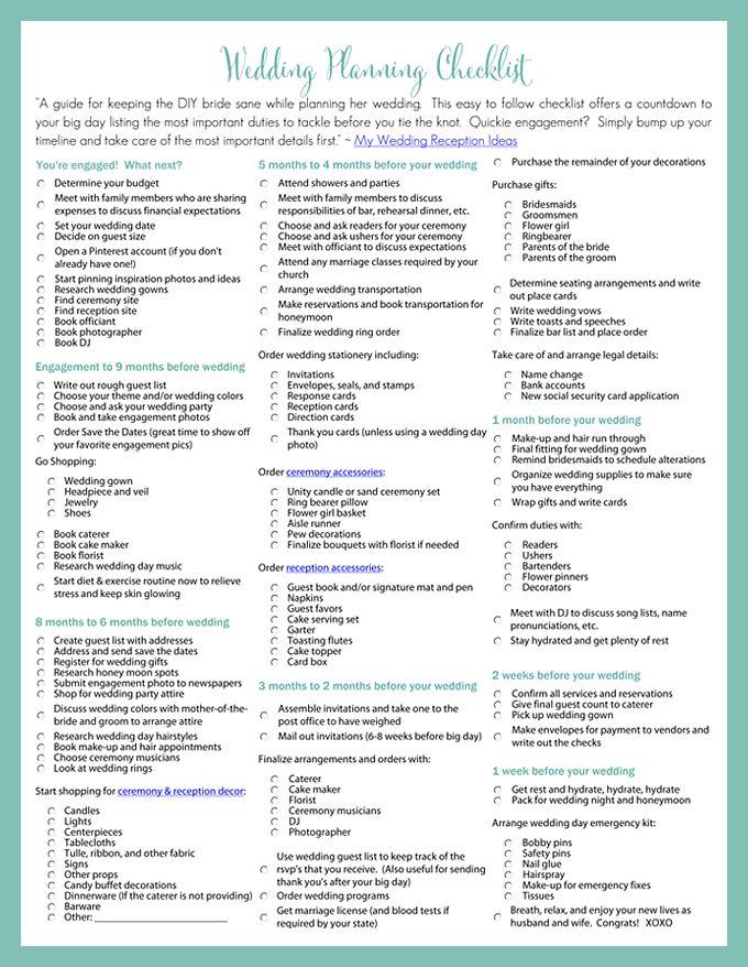 Wedding reception checklist best 25 wedding reception checklist ideas on emasscraft org junglespirit Image collections