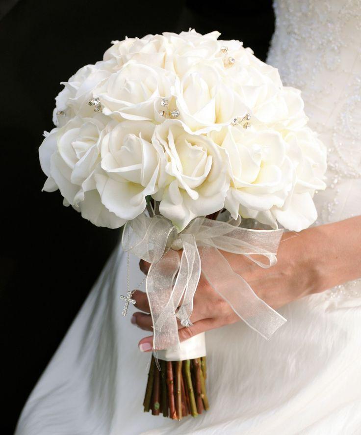 White rose wedding bouquet best 25 white rose flower ideas on emasscraft org mightylinksfo Image collections