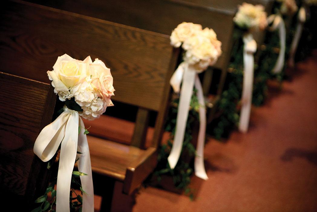 Wedding church pews decorations junglespirit Choice Image