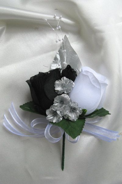 Black and silver wedding bouquet mightylinksfo Images