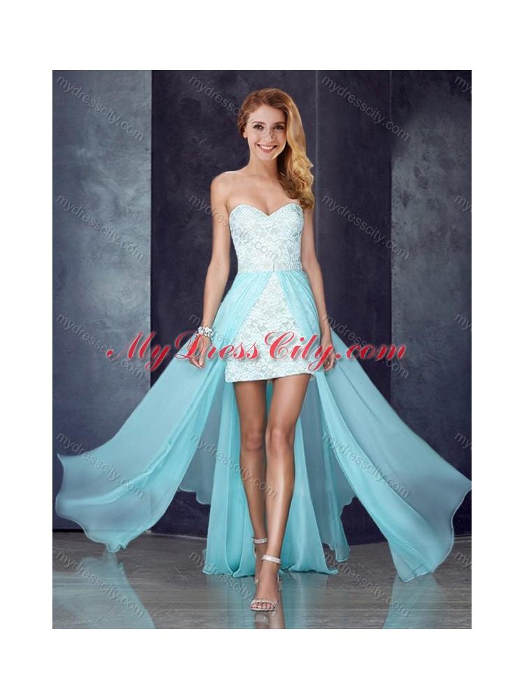 Light Blue Short Wedding Dress