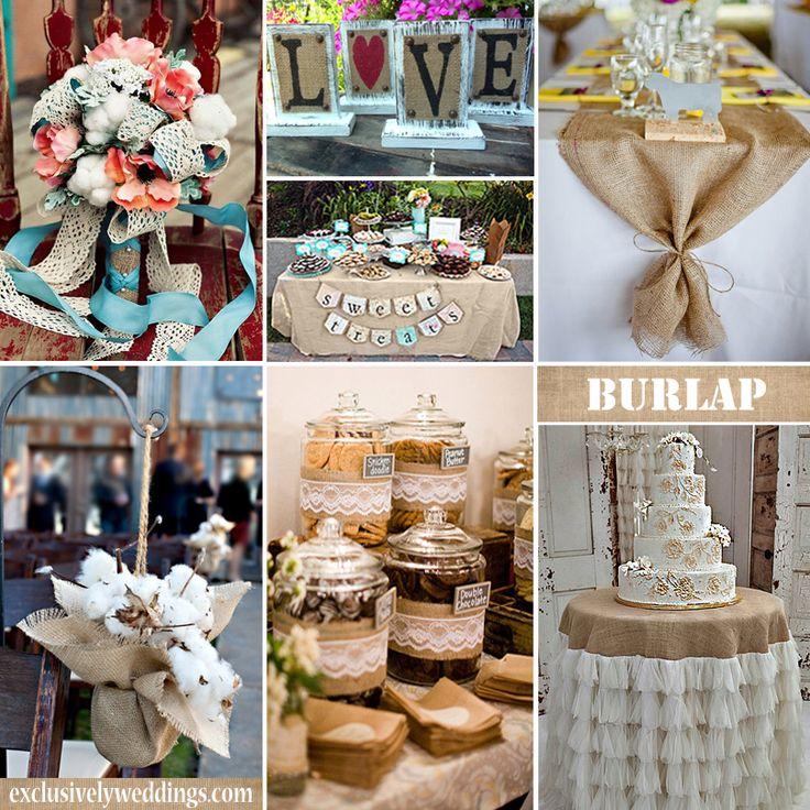 Burlap Decorations For Weddings