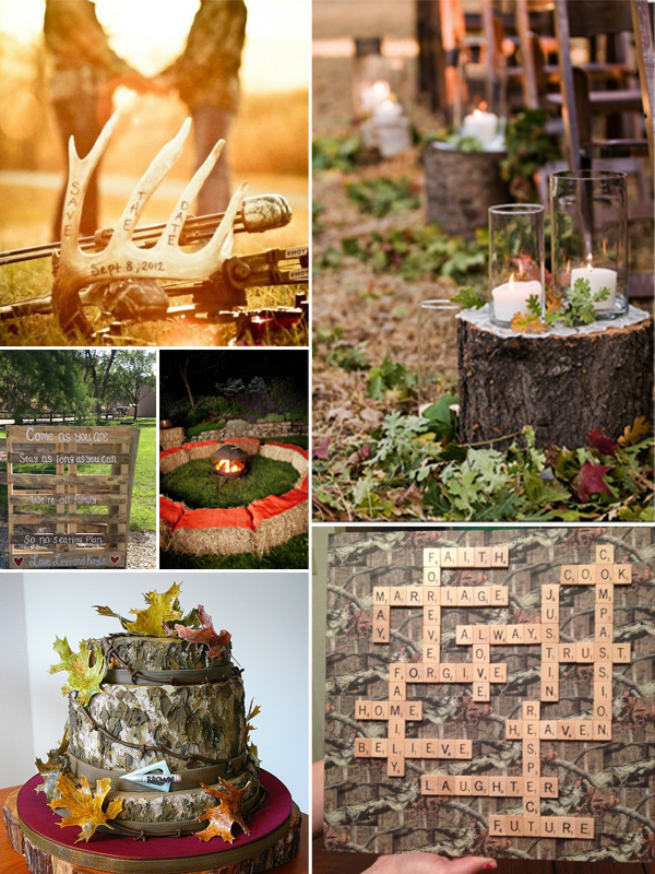 Fall camo wedding ideas junglespirit