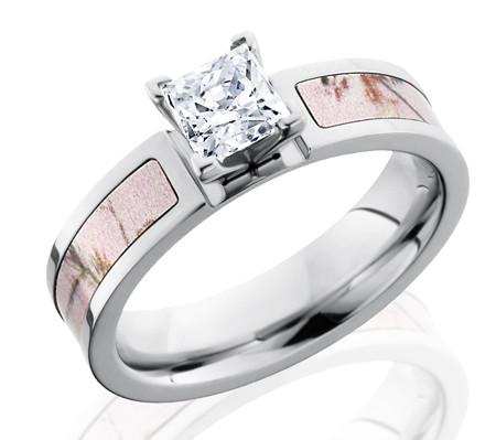 Pink Camo Wedding Rings