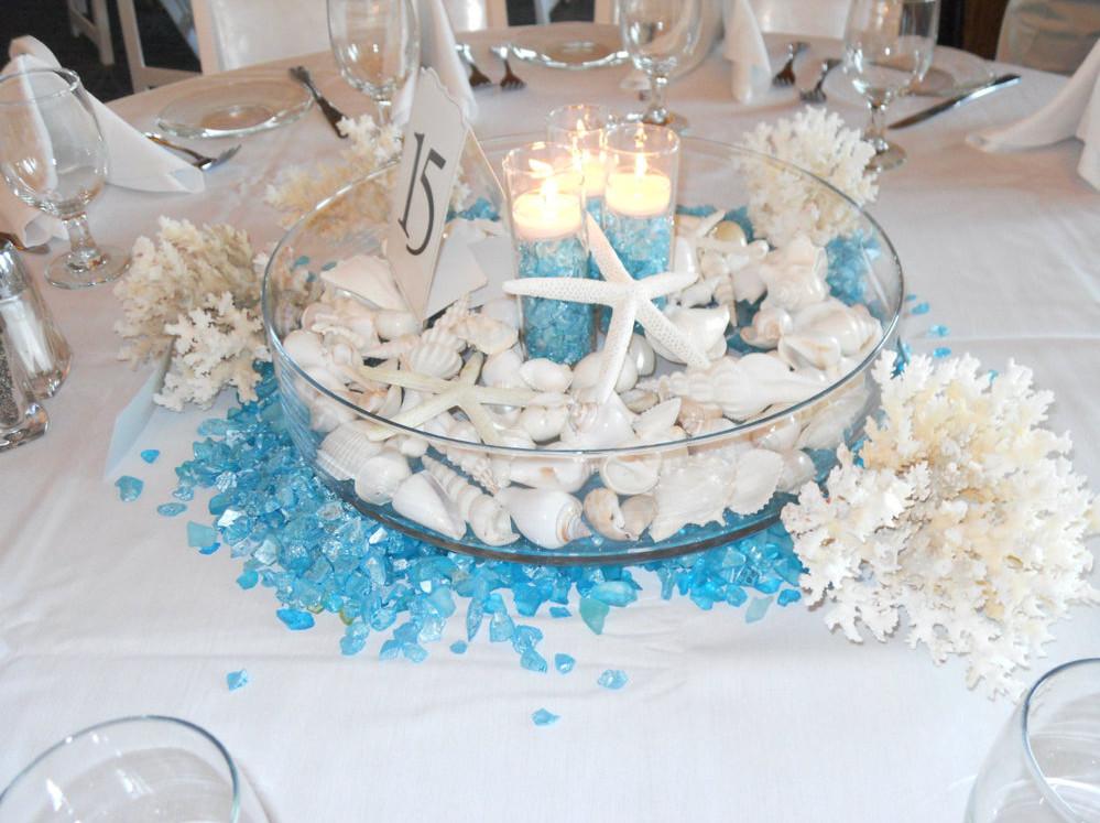 Candle Beach Wedding Table Decorations Best House Design Emasscraft Org