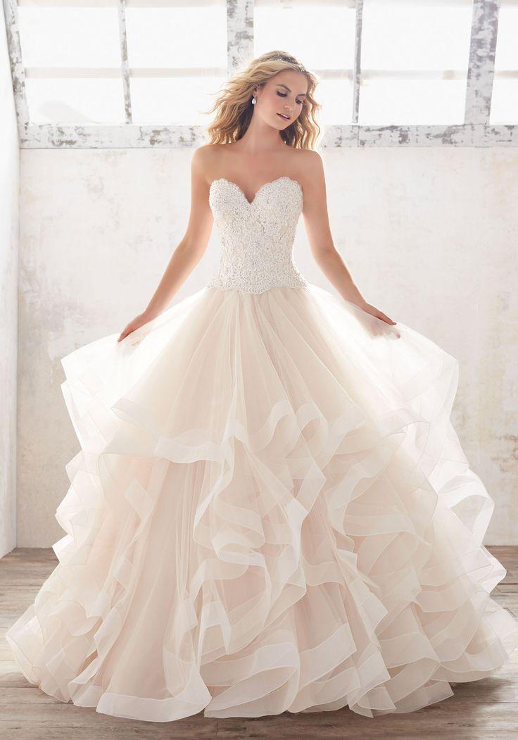 Wedding Dress Ruffle Bottom